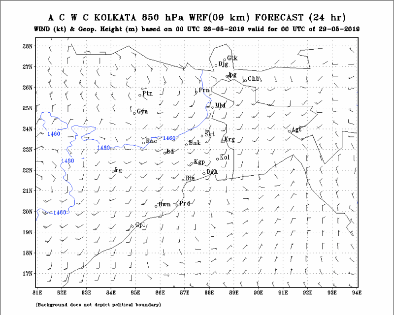 850 HPa Wind and GPM